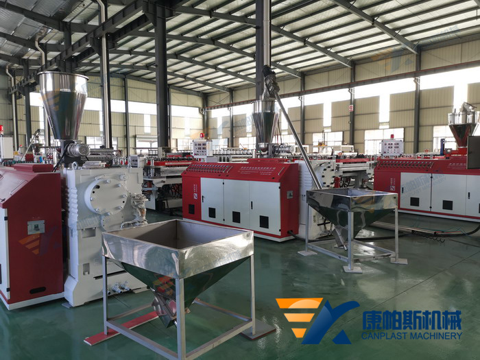 WPC foam building template production line