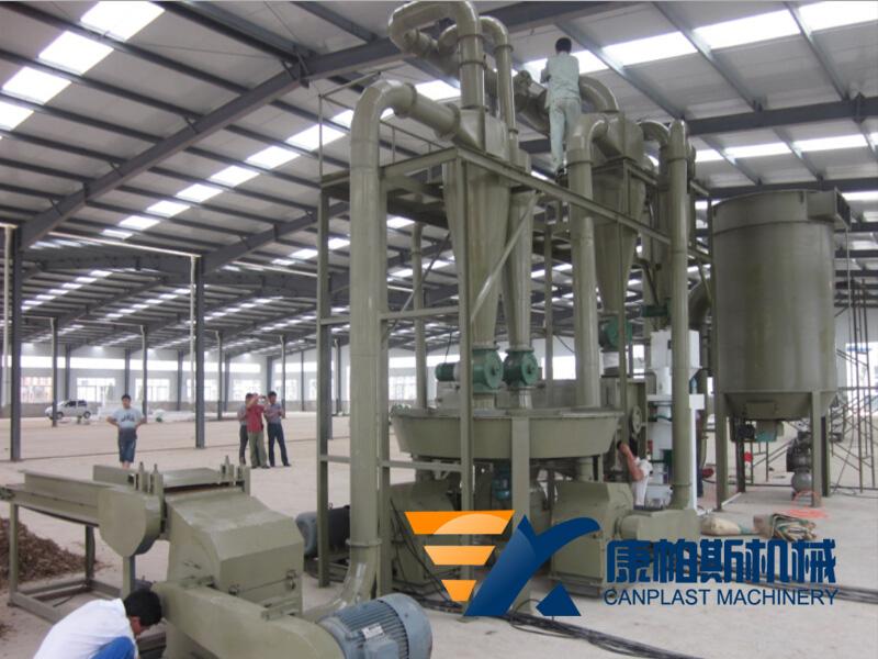 Wood powder processing equipment